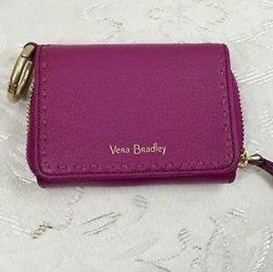 NWT VERA BRADLEY MALLORY CARD CASE wild berry